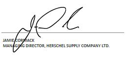 Jamie Cormack signature, Managing Director