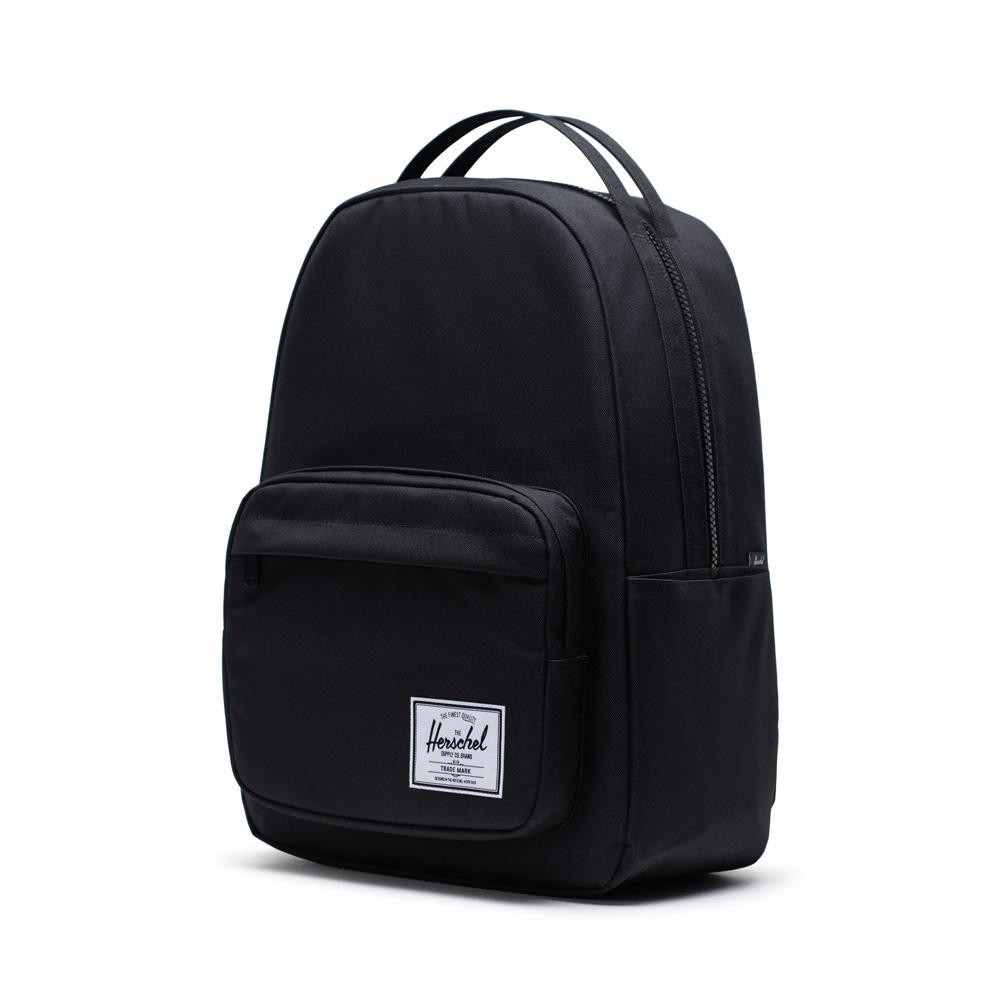 image of a black herschel miller backpack