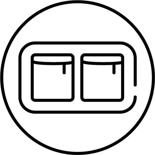 three front pockets feature icon